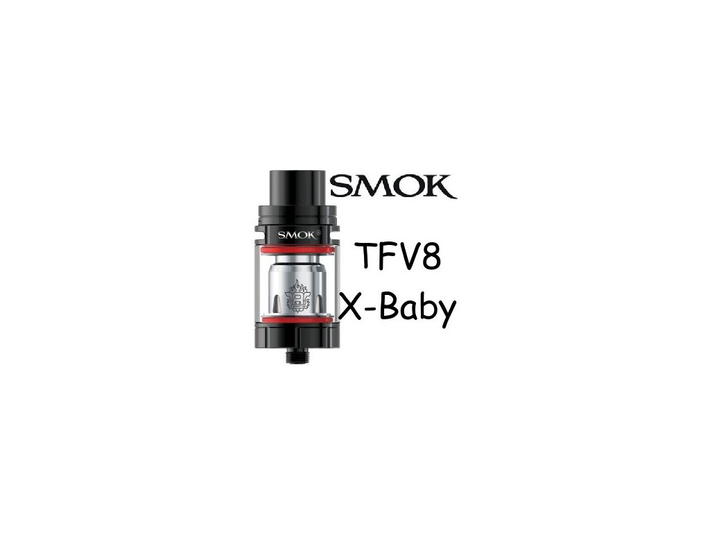 Smoktech TFV8 X-Baby clearomizer Černá