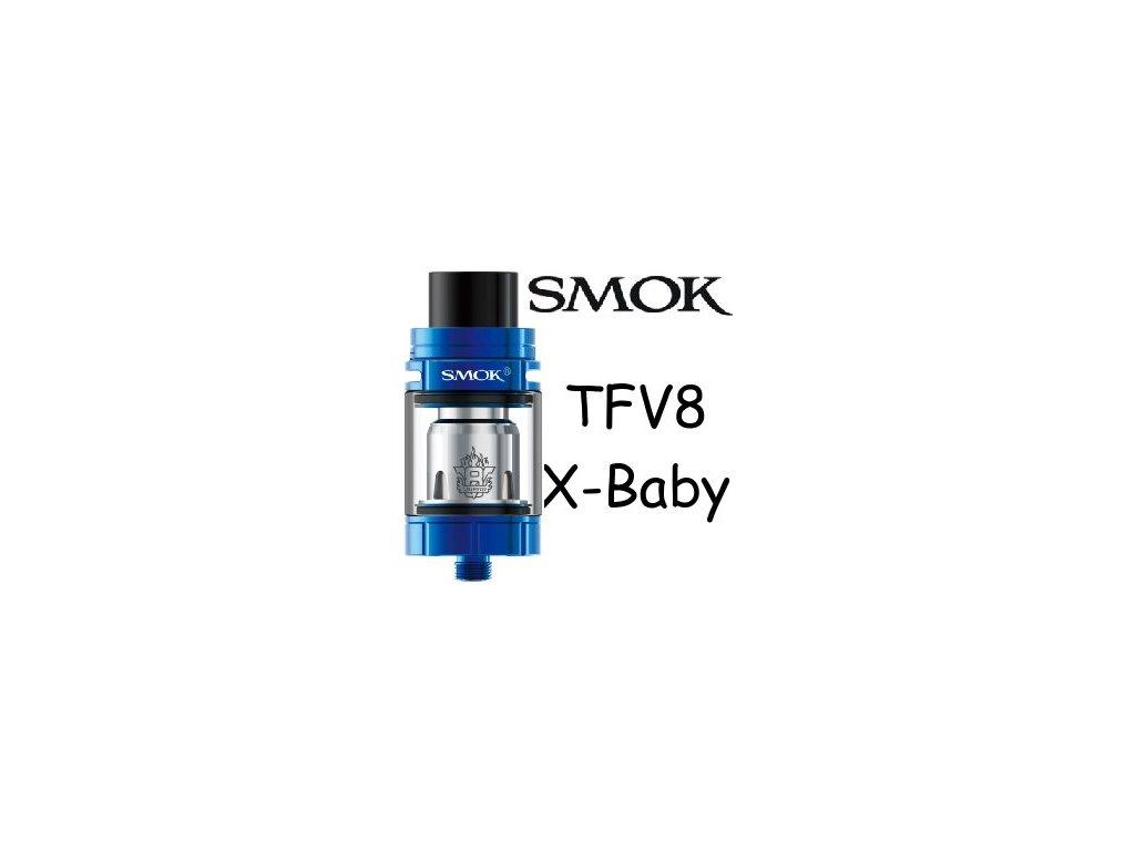 Smoktech TFV8 X-Baby clearomizer Modrá