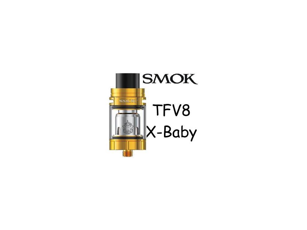 Smoktech TFV8 X-Baby clearomizer Zlatá