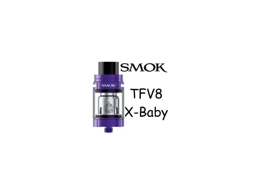 Smoktech TFV8 X-Baby clearomizer Fialová