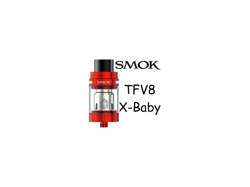 Smoktech TFV8 X-Baby clearomizer Červená