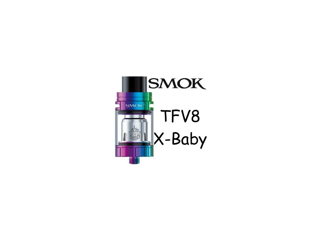 Smoktech TFV8 X-Baby clearomizer Duhová