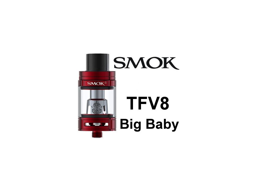 Smok TFV8 Big Baby clearomizer Red