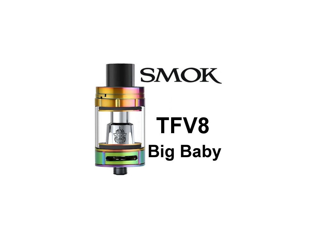 Smok TFV8 Big Baby clearomizer Rainbow