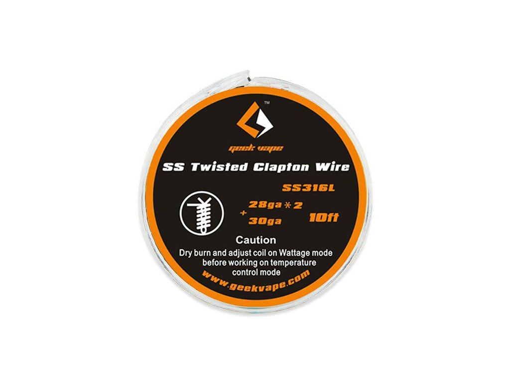 Twisted Clapton SS316 - odporový drát 2x 28GA + 30GA (3m) - GeekVape