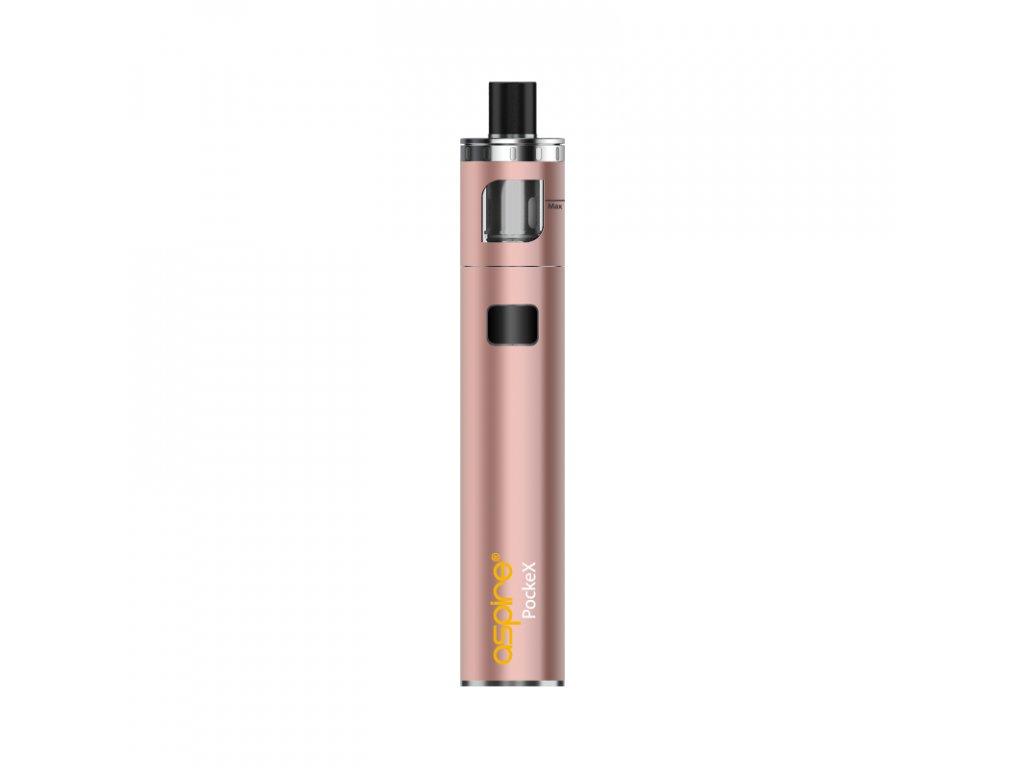 Elektronická cigareta: Aspire PockeX AIO (1500mAh) (Růžově zlatá)