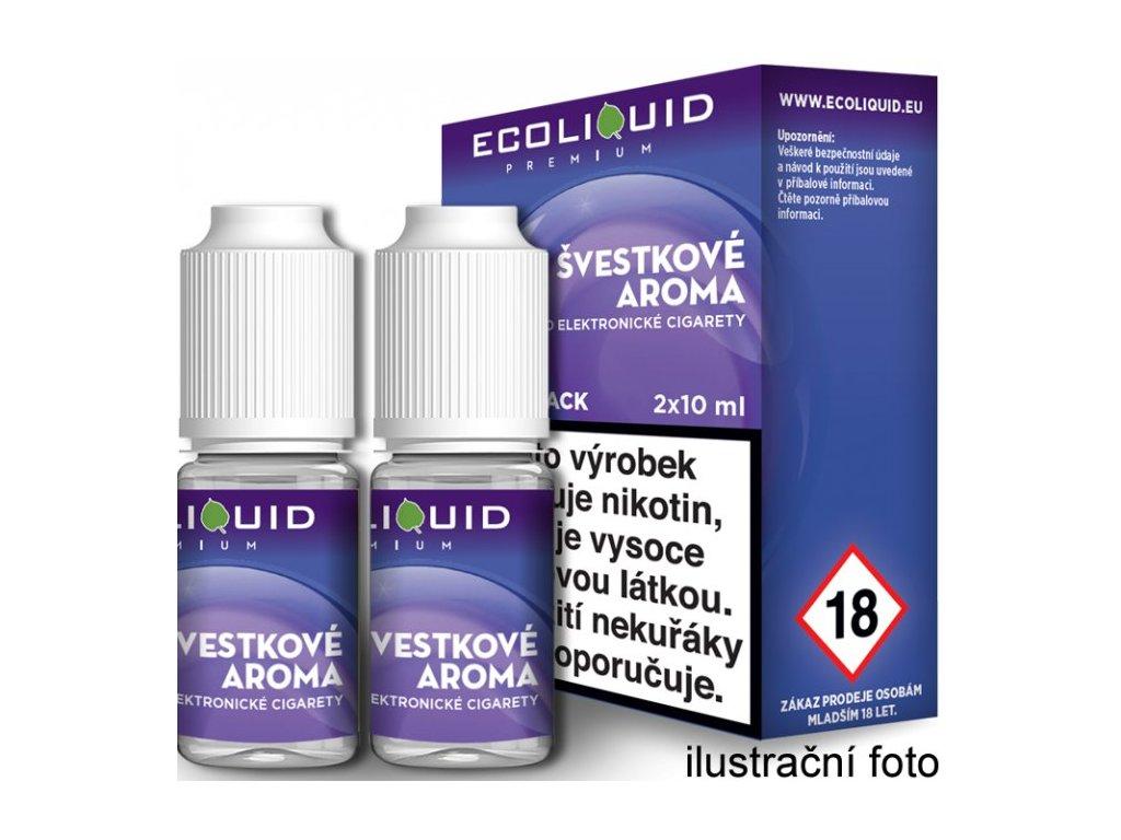 Liquid Ecoliquid Premium 2Pack Plum 2x10ml - (Švestka)