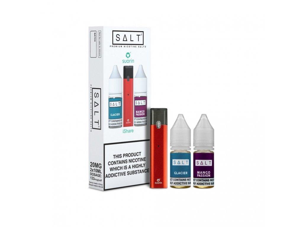 Suorin iShare SALT POD CZ elektronická cigareta 130mAh Red