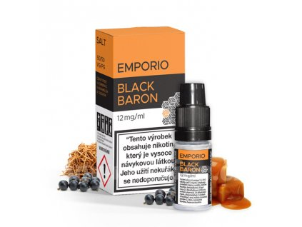 E-liquid Emporio Salt 10ml / 12mg: Black Baron (Černý rybíz s karamelem a tabákem)