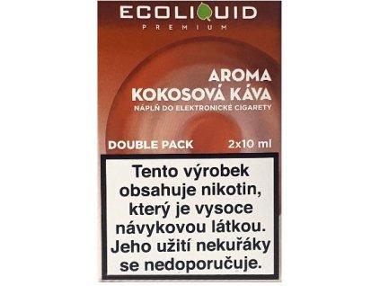 Liquid Ecoliquid Premium 2Pack Coconut Coffee 2x10ml - 0mg
