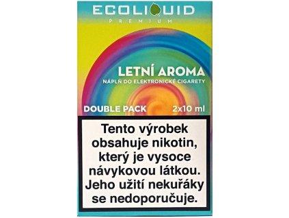 Liquid Ecoliquid Premium 2Pack Summer flavor 2x10ml - 18mg