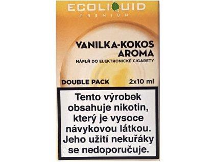 Liquid Ecoliquid Premium 2Pack Vanilla Coconut 2x10ml - 18mg