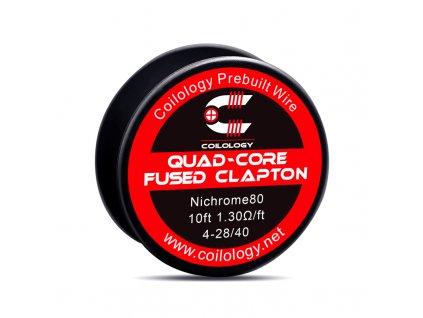Odporový drát Coilology - Quad-core Fused Clapton Ni80 (3m)