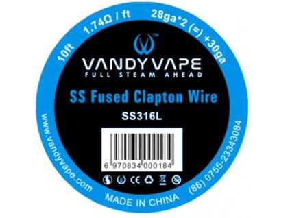 Vandy Vape SS Fused Clapton 3m SS316