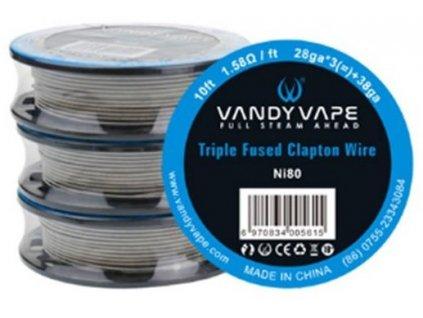 Vandy Vape Triple Fused Clapton odporový drát Ni80 3m