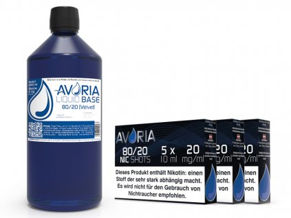 avoria báze 80 20 sada 1000ml 3mg