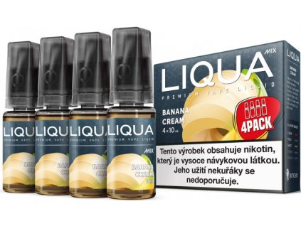 Liquid LIQUA MIX 4 Pack Banana Cream 10ml-6mg