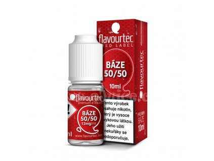 Nikotinová báze Flavourtec Red Label (50/50): 10ml / 12mg