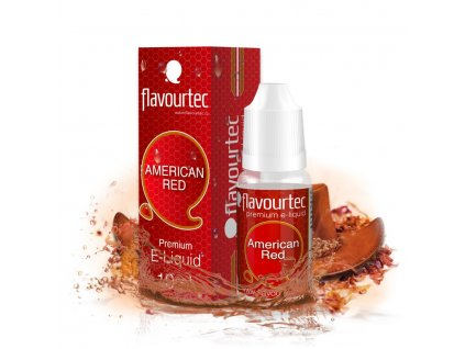 E-liquid Flavourtec 10ml / 0mg: American Red (Americký tabák)