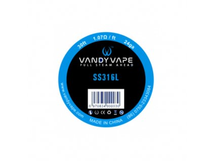 SS316L - odporový drát 0,5 mm 24GA - Vandy Vape (9m)