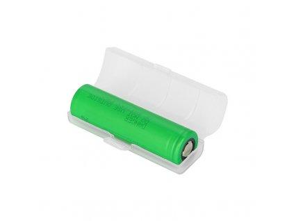Plastové ochranné pouzdro pro baterii 18650 (1ks) (Mléčné)