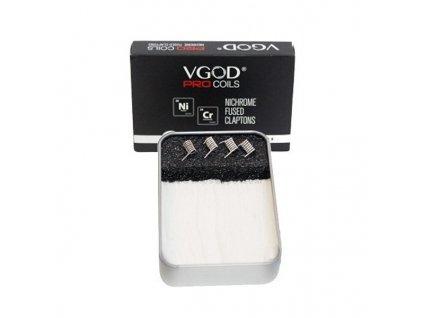 Set 2v1: VGOD ProCoils 4x Ni80 Fused Clapton spirálky + vata