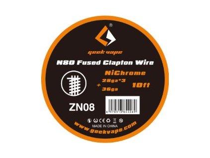 Geekvape N80 Fused Clapton odporový drát (28GaX3+36Ga) 3m