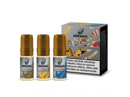 Dreamix 3x10ml - Americký tabák, Klasický tabák, Doutníkový tabák