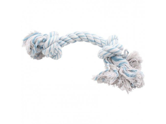 Uzel bavlna, bílo modrý (320 g)