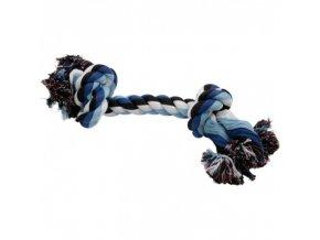 852 Uzel bavlna, bílo modro černý (375 g)