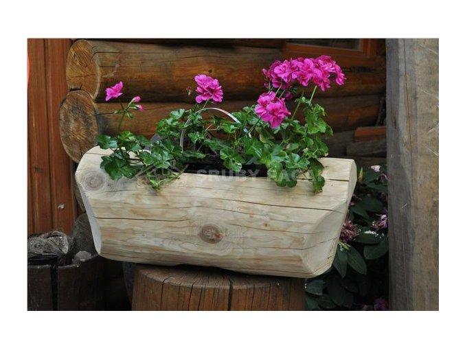Dřevěný květináč - mini