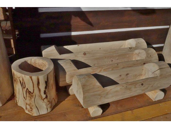 Dřevěný květináč 120 (80)cm