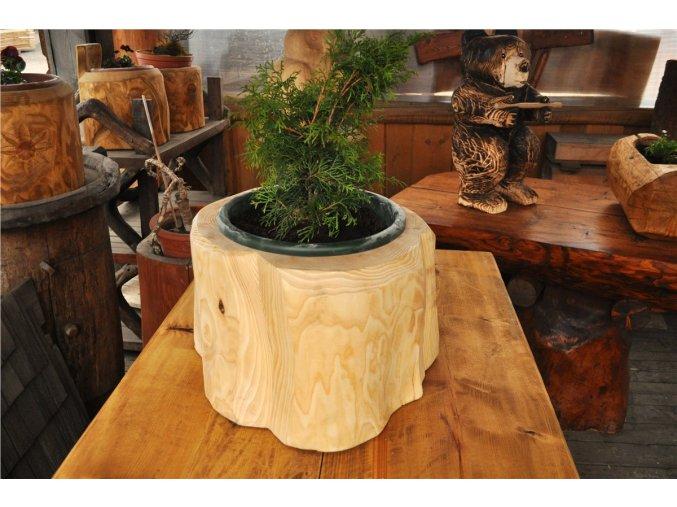 Dřevěný obal na plastový květináč 35 cm