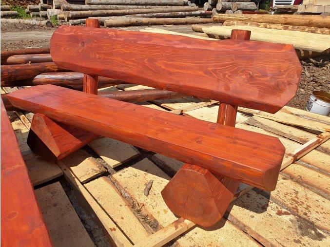 Srubová lavice s opěradlem