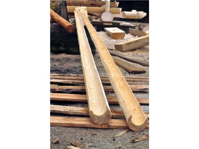 Střešní žlab dřevěný, okap