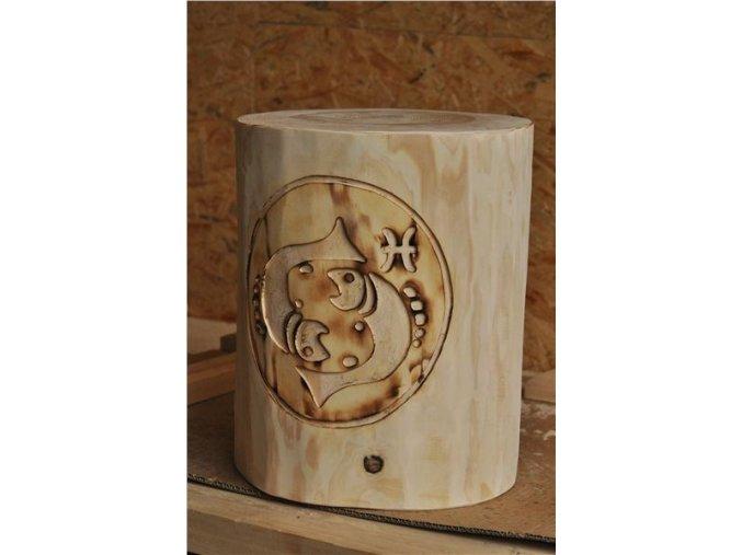 Dřevěný špalek, znamení zvěrokruhu