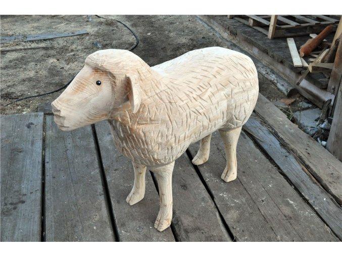 Dřevěná socha, ovečka