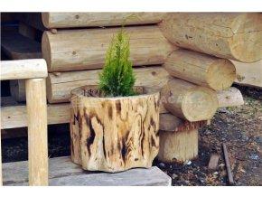 Dřevěný květináč - špalek