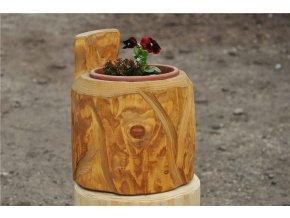 Dřevěný obal na plastový květináč 25 cm