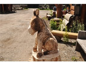 Osel, dřevěná socha