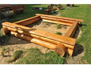 Dřevěné pískoviště 3 x 3 m