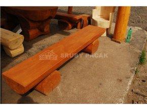 Srubová lavice bez opěradla