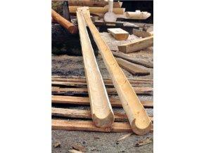 Dřevěný žlab - okap, korýtko