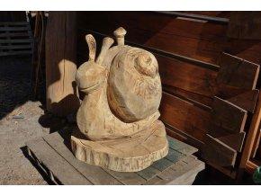 Dřevěná socha, Šnek