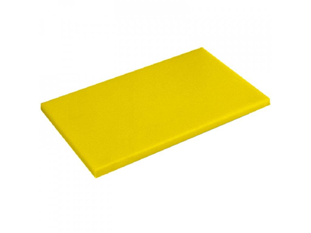 DESKA KRÁJECÍ ŽLUTÁ, rozměr 53 x 32,5 cm