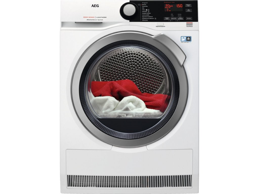 AEG AbsoluteCare® T8DBE48SC  - sušička prádla  + 5+10 let záruka