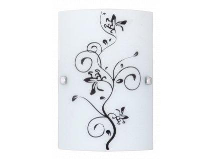 Rabalux 3891 Blossom, 18x26cm nástěnná lampa, chrom coločerveno odstín ing  screw E27 60W