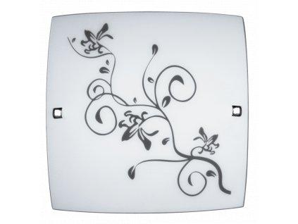 Rabalux 3892 Blossom 30x30cm wall/stropní lampa, chrom coločerveno odstín ing  screw E27 60W