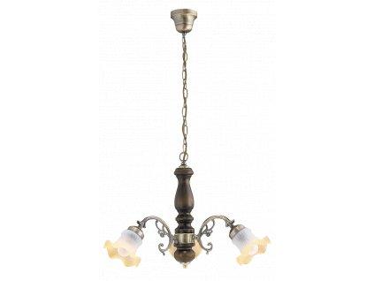 Rabalux 7073 Rustic, závěsná lustr lamp, 3 ramenný, D60cm