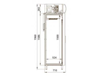 Polair DM 110 SD posuvné dveře